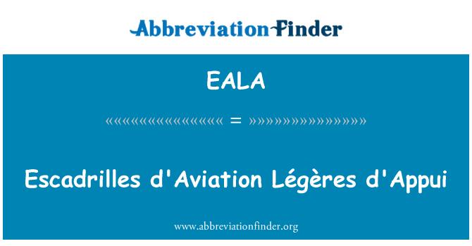 EALA: Escadrilles d'Aviation Légères d'Appui
