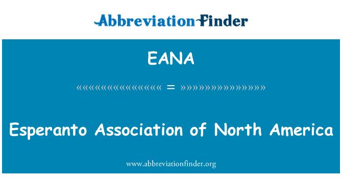 EANA: Esperanto Association of North America