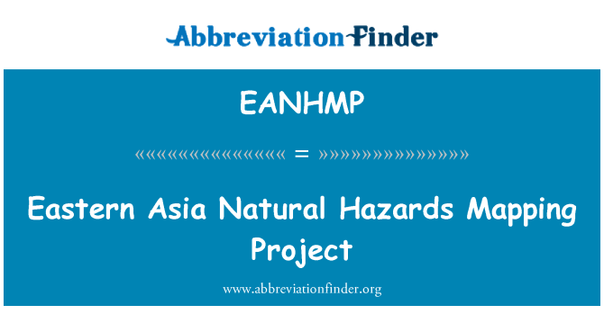EANHMP: Eastern Asia Natural Hazards Mapping Project