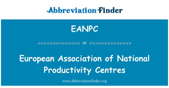 EANPC: European Association of National Productivity Centres