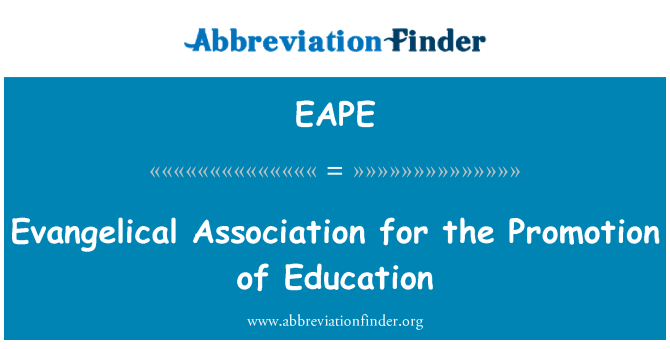 EAPE: Evangelical Association for the Promotion of Education