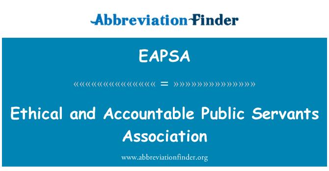 EAPSA: Etički i odgovorni javni službenici udruga