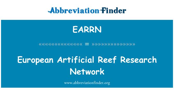 EARRN: European Artificial Reef Research Network