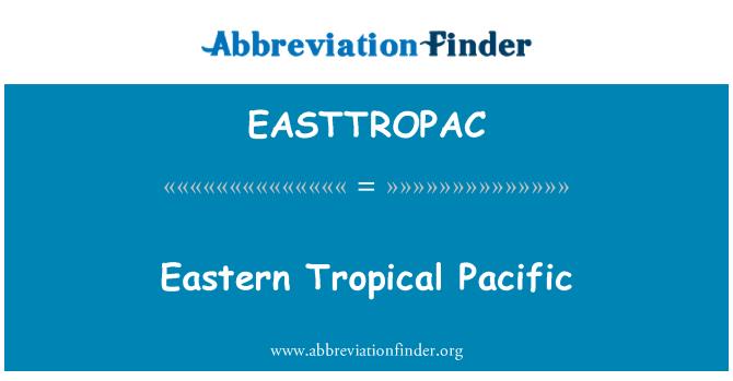 EASTTROPAC: Tropické východní Pacifik