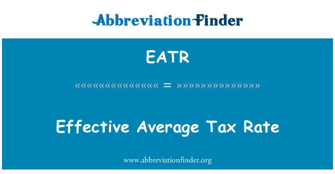 EATR: Tipo impositivo efectivo promedio