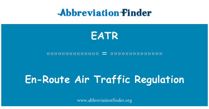 EATR: Regulación de tráfico aéreo en ruta