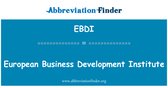 EBDI: European Business Development Institute