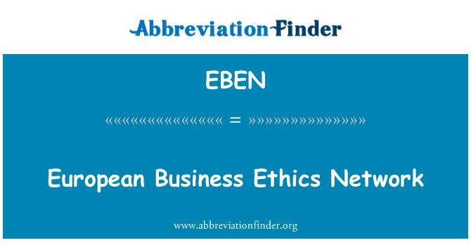 EBEN: European Business Ethics Network