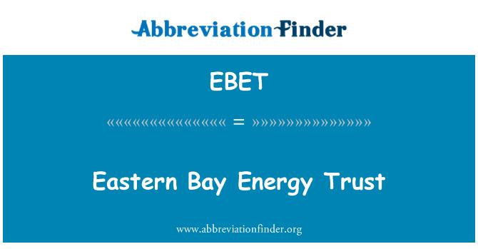 EBET: Amanah tenaga Teluk Timur