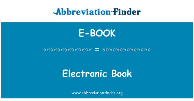 E-BOOK: Electronic Book