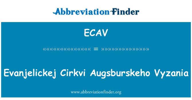 ECAV: Evanjelickej Cirkvi Augsburskeho Vyzania