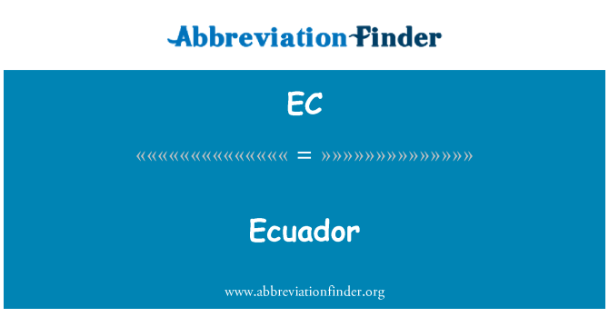EC: Ecuador