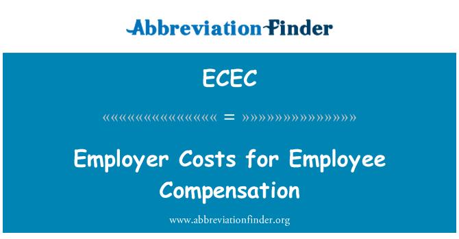 ECEC: Costos del empleador para la compensación de sus empleados