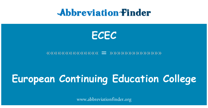 ECEC: Colegio Europeo de educación continua