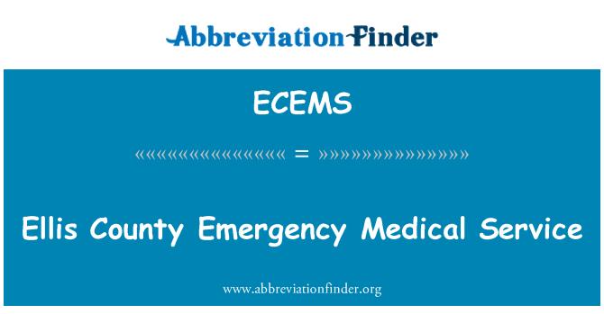 ECEMS: Ellis County Emergency Medical Service