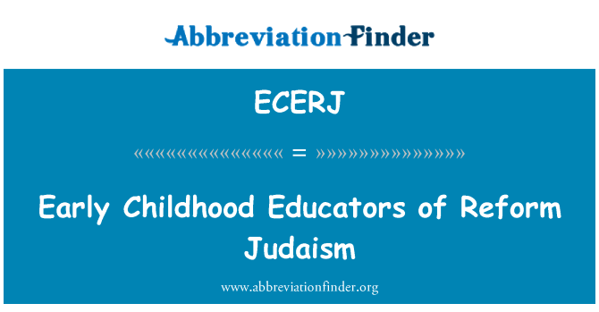 ECERJ: Early Childhood Educators of Reform Judaism