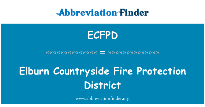 ECFPD: Elburn Countryside Fire Protection District