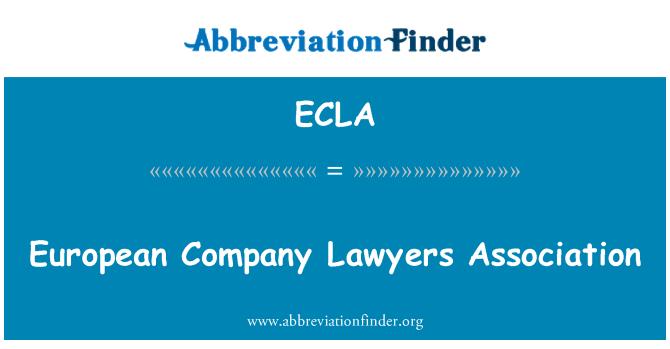ECLA: Asociación de abogados de empresa europea