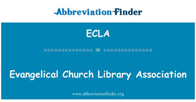 ECLA: Evangelical Church Library Association