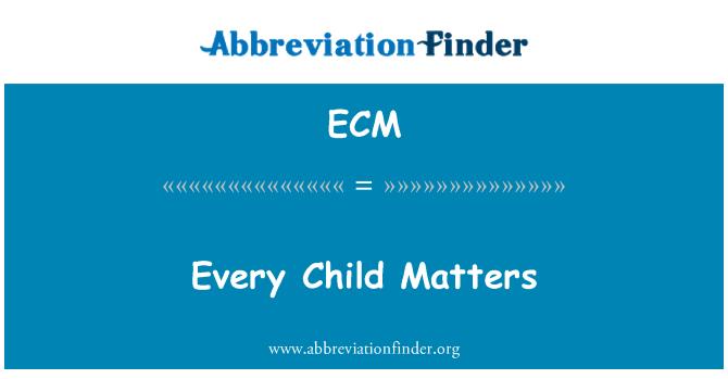 ecm every child matters