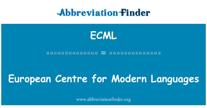 ECML: European Centre for Modern Languages