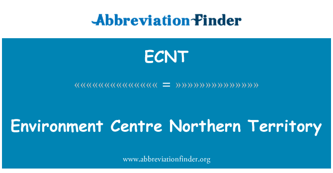 ECNT: Environment Centre Northern Territory