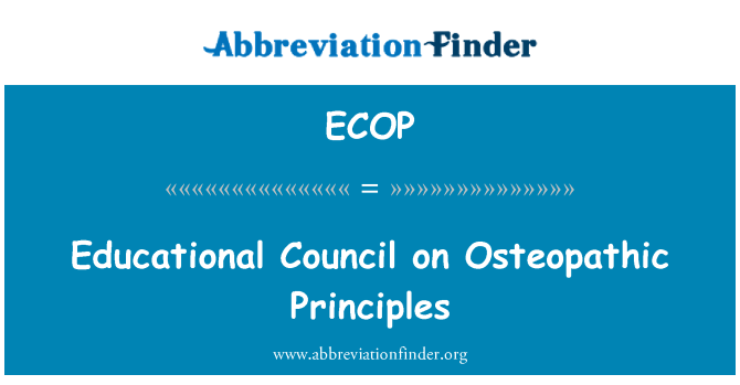 ECOP: Educational Council on Osteopathic Principles