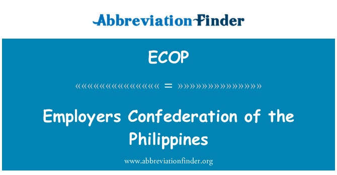 ECOP: Employers Confederation of the Philippines