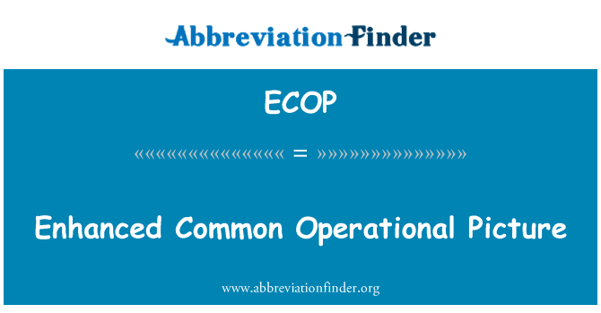 ECOP: Enhanced Common Operational Picture