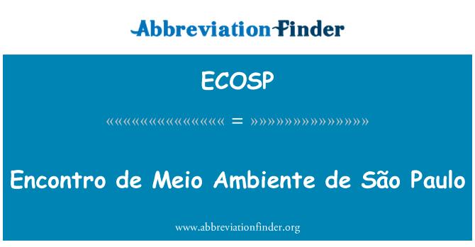 ECOSP: Encontro de Meio Ambiente de São Paulo
