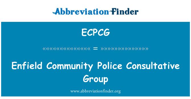 ECPCG: Enfield Community Police Consultative Group