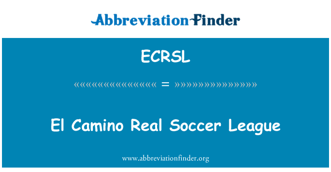 ECRSL: El Camino Real Soccer League