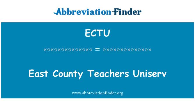 ECTU: East County Teachers Uniserv