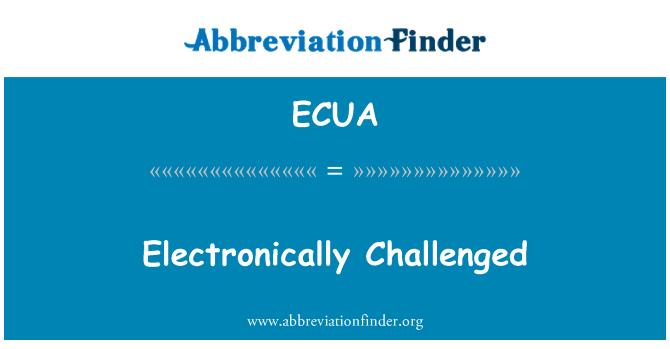 ECUA: Dicabar secara elektronik