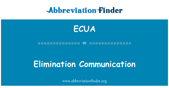 ECUA: 消除沟通
