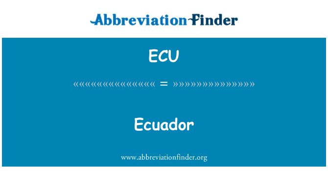 ECU: Ecuador