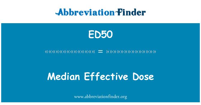 ED50: Dosis efectiva media