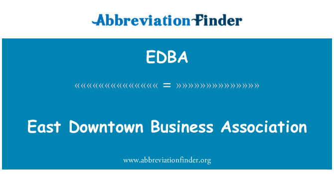 EDBA: Este centro Business Association
