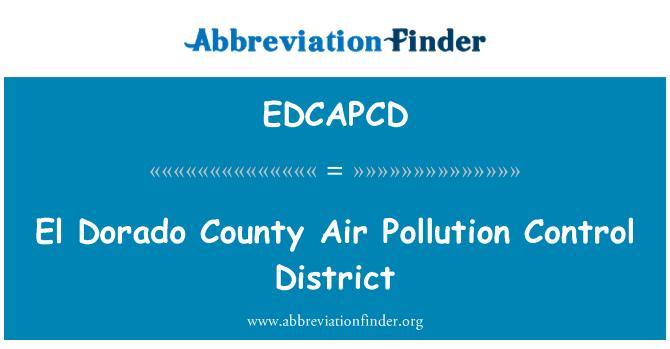 EDCAPCD: El Dorado County Air Pollution Control District
