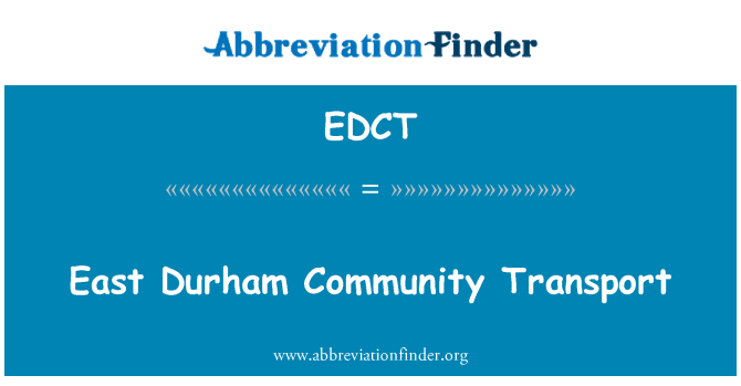 EDCT: East Durham Community Transport