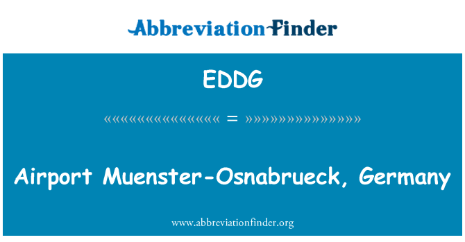 EDDG: ہوائی اڈے موئنسٹر-اوسنابریک، جرمنی