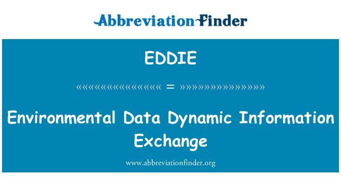 EDDIE: Keskkonnaandmete dünaamiline teabevahetus