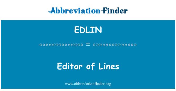 EDLIN: Editor de líneas