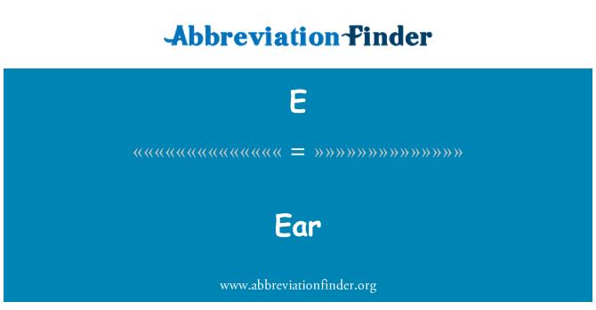 E: Kõrva