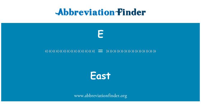 E: East