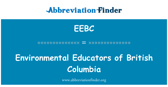 EEBC: Environmental Educators of British Columbia