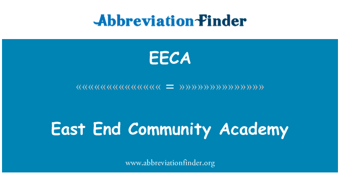 EECA: East End Community Academy
