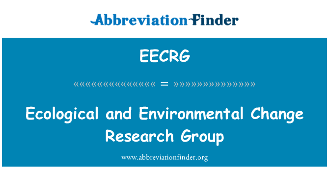 EECRG: Ecological and Environmental Change Research Group