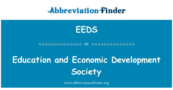 EEDS: Educación y la sociedad de desarrollo económico