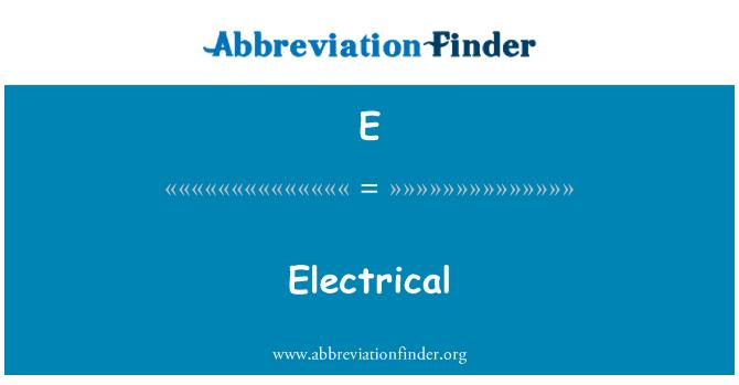 E: Elektriseadmete